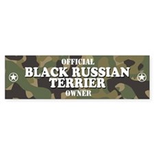 BLACK RUSSIAN TERRIER Bumper Bumper Sticker