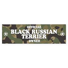BLACK RUSSIAN TERRIER Bumper Car Sticker