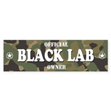 BLACK LAB Bumper Car Sticker