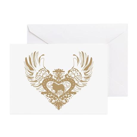 Samoyed Winged Heart Greeting Cards (Pk of 10)