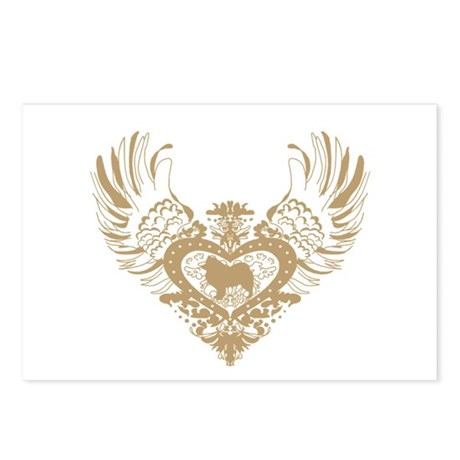 Samoyed Winged Heart Postcards (Package of 8)