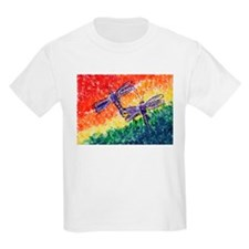 Rainbow Dragonflies Kids T-Shirt