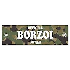 BORZOI Bumper Car Sticker