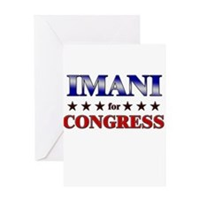 IMANI for congress Greeting Card