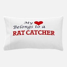 My heart belongs to a Rat Catcher Pillow Case