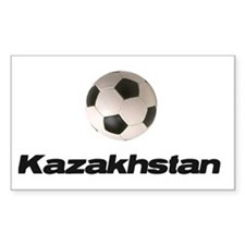 Kazakhstan Soccer Rectangle Decal