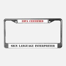 EIPA Certified Interpreter License Plate Frame