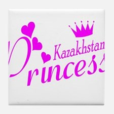 Kazakhstani Princess Tile Coaster
