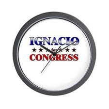 IGNACIO for congress Wall Clock