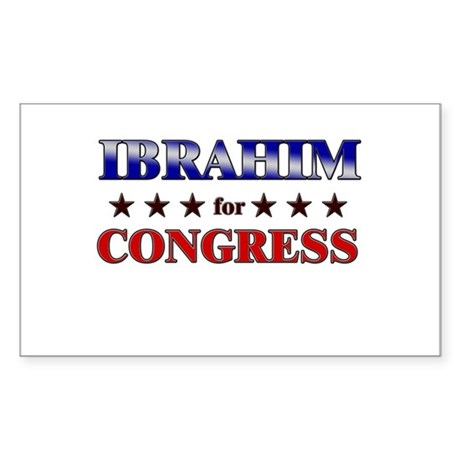 IBRAHIM for congress Rectangle Sticker