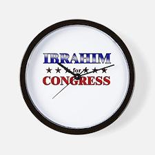 IBRAHIM for congress Wall Clock