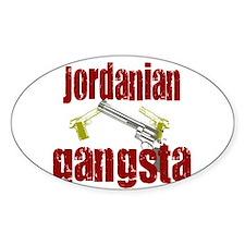 Jordanian gangsta Oval Decal