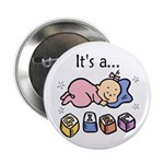 "It's a Girl 2.25"" Button (10 pack)"