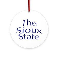 North Dakota The Sioux State Keepsake (Round)