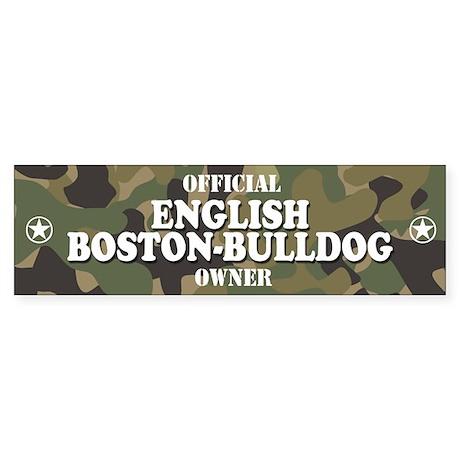 ENGLISH BOSTON-BULLDOG Bumper Sticker