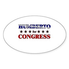HUMBERTO for congress Oval Decal