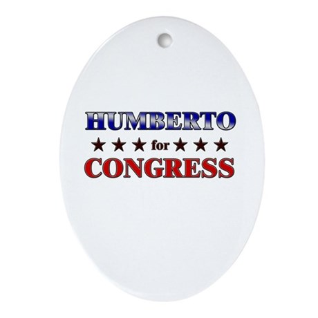 HUMBERTO for congress Oval Ornament
