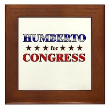 HUMBERTO for congress Framed Tile