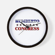 HUMBERTO for congress Wall Clock