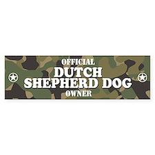 DUTCH SHEPHERD DOG Bumper Car Sticker