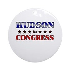 HUDSON for congress Ornament (Round)