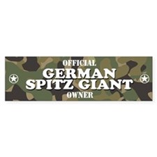 GERMAN SPITZ GIANT Bumper Bumper Sticker