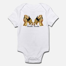 Airedale Terrier Trouble Infant Bodysuit