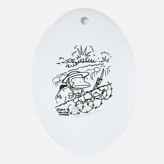 Cute Ww1 Oval Ornament
