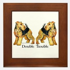 Airedale Terrier Trouble Framed Tile