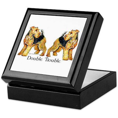 Airedale Terrier Trouble Keepsake Box