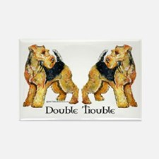 Airedale Terrier Trouble Rectangle Magnet (10 pack