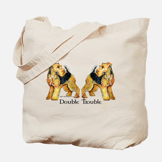 Airedale Terrier Trouble Tote Bag