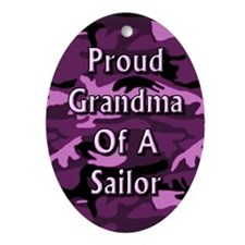 Proud grandma of a Sailor Oval Ornament