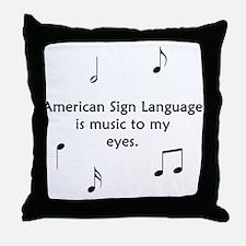 Deaf Music Throw Pillow