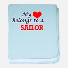 My heart belongs to a Sailor baby blanket
