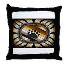 BEAR PAW PRIDE DESIGN/BLACK Throw Pillow