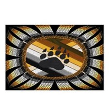 BEAR PAW PRIDE DESIGN/BLACK Postcards (Package of