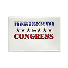 HERIBERTO for congress Rectangle Magnet