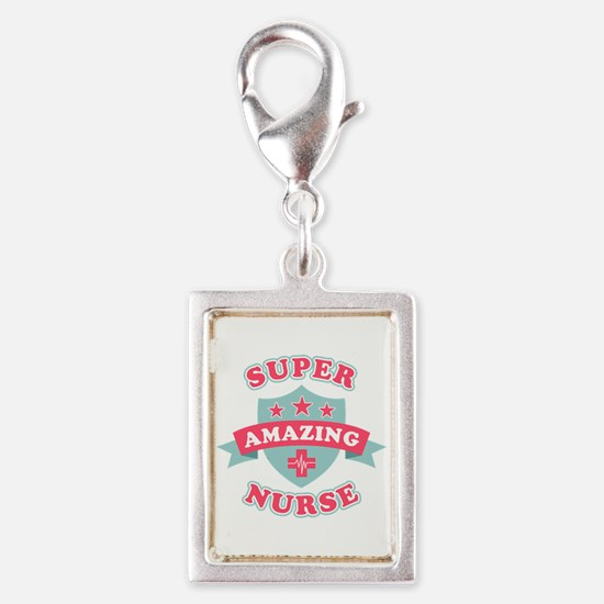 Super Amazing Nurse Silver Portrait Charm