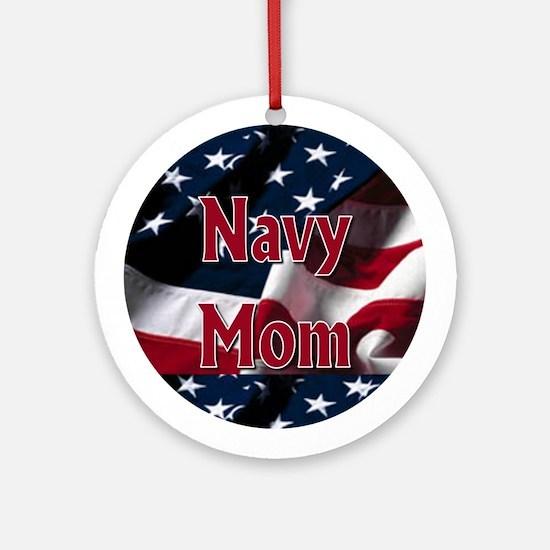 Navy mom Ornament (Round)