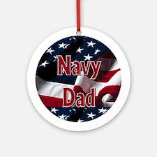 Navy dad Ornament (Round)