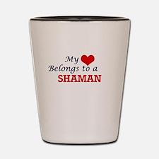 My heart belongs to a Shaman Shot Glass