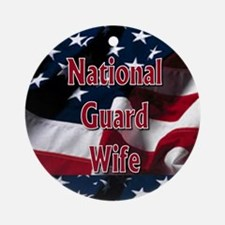 National Guard wife Ornament (Round)