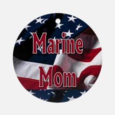 Marine mom Ornament (Round)