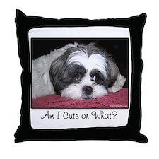 Cute Shih Tzu Dog Throw Pillow