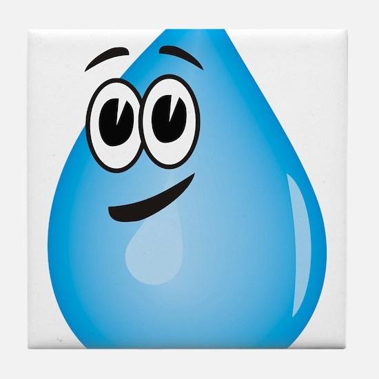 Water Drop Tile Coaster