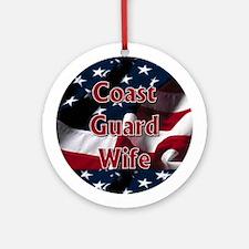 Coast Guard wife Ornament (Round)