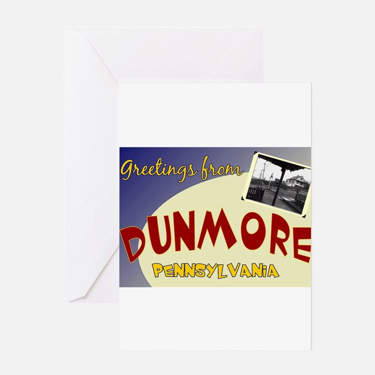 Greetings From Dunmore Greeting Card