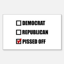Pissed Off Voter Decal