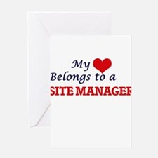 My heart belongs to a Site Manager Greeting Cards